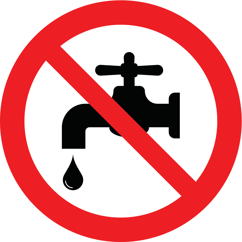 no water graphic